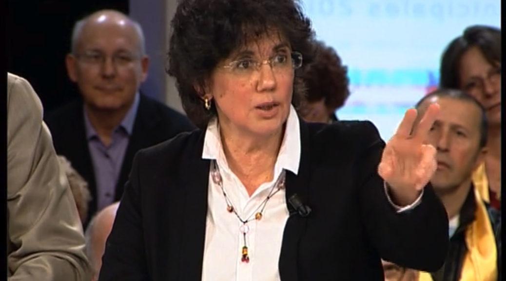 """Monique Cosson sur le plateau de l'émission """"Municipales 2014"""" sur TLM, le 18 février dernier."""